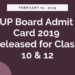 UP Board Admit Card 2019 Released