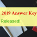 GATE 2019 Answer Key