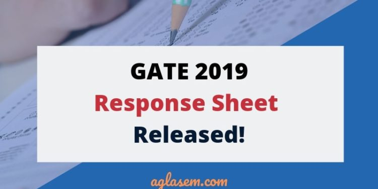 GATE 2019 Response Sheet Released