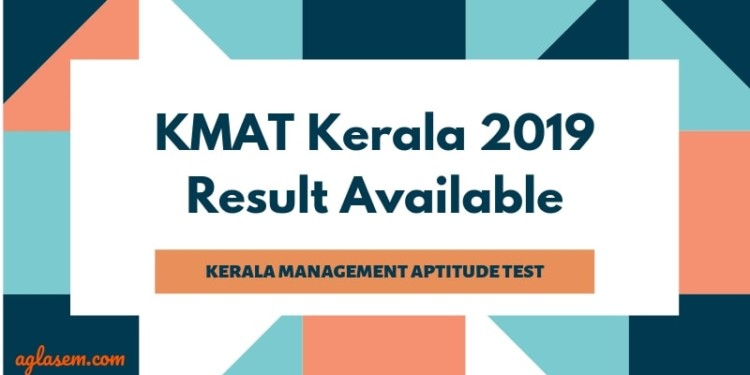 KMAT Kerala 2019 Result Available at kmatkerala.in