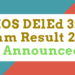 NIOS DElEd 3rd Exam Result 2018