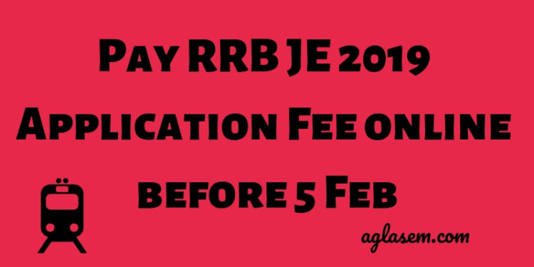 RRB JE Application Fee