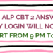 RRB ALP CBT 2 Answer Key Login will now start from 9 PM