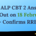 RRB ALP CBT 2 Answer Key Out on 18 February