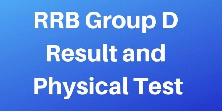 RRB Group D Result and PET