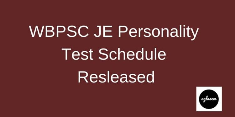 WBPSC JE Personality Schedule Resleased