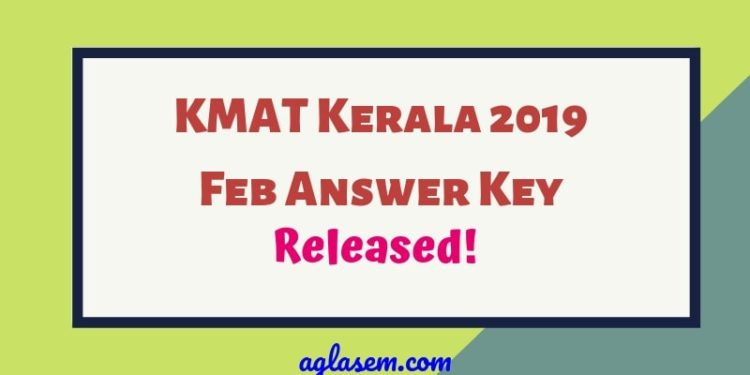 KMAT Kerala 2019 Answer Key Released