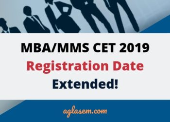 MBA/MMS CET Registration 2019 Last Date Extended