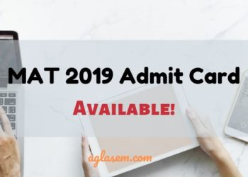 AIMA Released MAT 2019 Admit Card