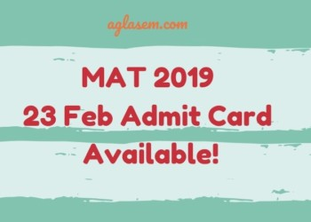 MAT 2019 Admit Card Available for 23 Feb Exam