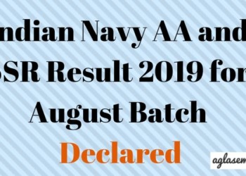 Indian Navy AA And SSR Result 2019 Aglasem