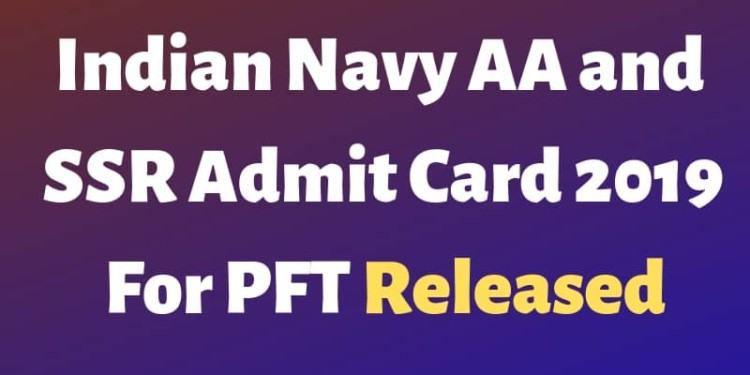 Indian Navy AA and SSR Admit Card 2019 Aglasem