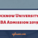 Lucknow University MBA Admission 2019 Open