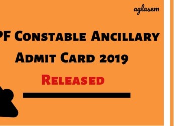 RPF Constable Ancillary Admit Card 2019 Released-Aglasem