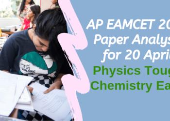 AP EAMCET 2019 Paper Analysis