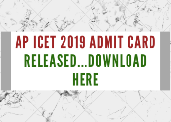 AP ICET 2019 Admit Card Released