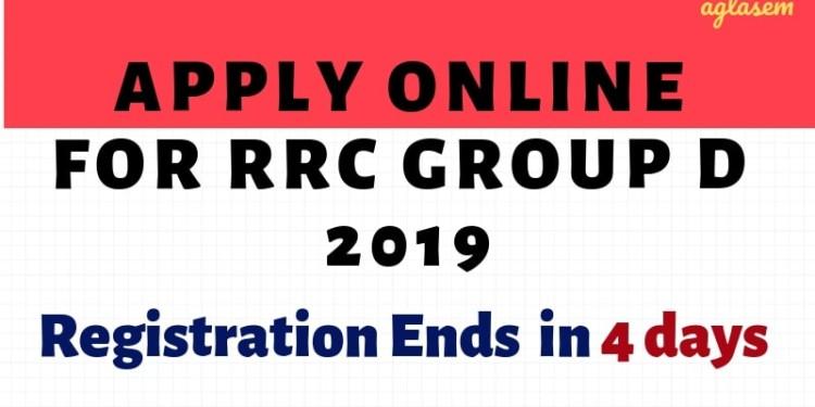 Apply Online for RRC Group D 2019 Aglasem