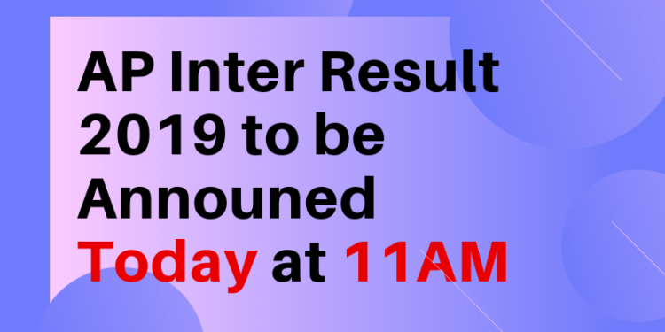 AP Inter Result 2019 Today
