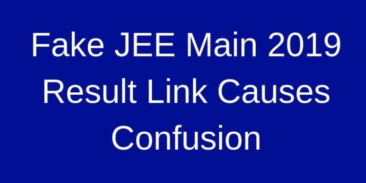 Fake JEE Main 2019 Result