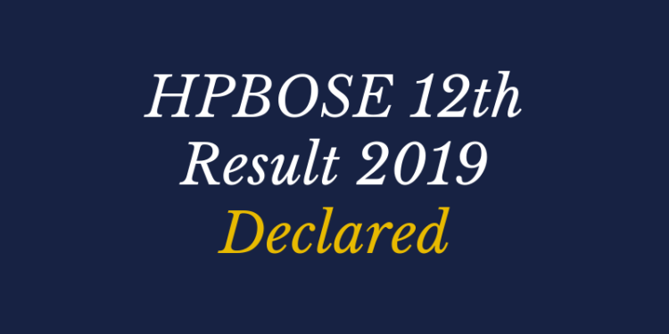 HPBOSE 12th Result 2019 Declared
