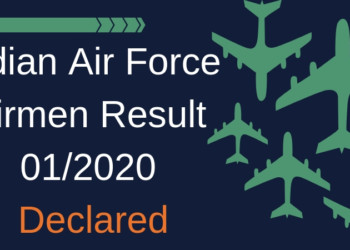 Indian Air Force Airmen Result 01/2020 Aglasem