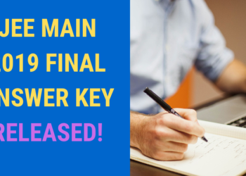 JEE MAIN 2019 FINAL ANSWER KEY RELEASED