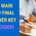 JEE MAIN 2019 FINAL ANSWER KEY RELEASED