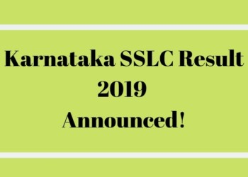 Karnataka SSLC Result 2019 Announced!