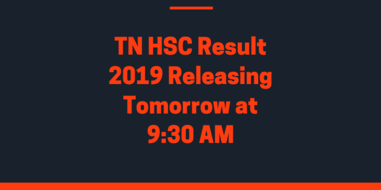 TN HSC Result 2019 tomorrow