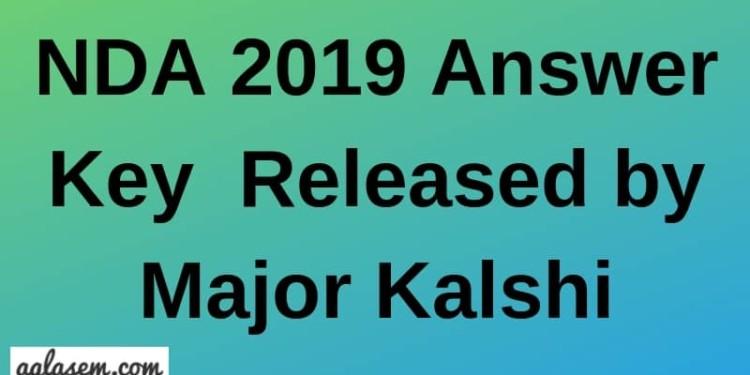 NDA 2019 Answer Key Aglasem