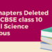 No Chapters Deleted from class 10 social Science Syllabus
