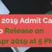 OJEE 2019 Admit card
