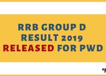 RRB Group D Result 2019 Released for PwD Aglasem
