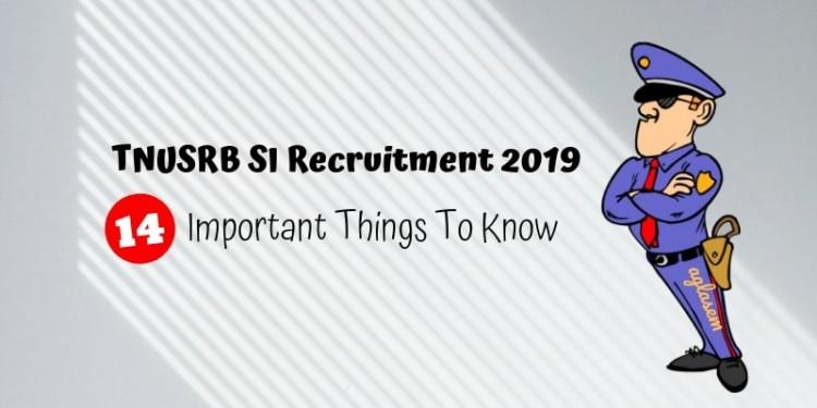 TNUSRB SI Recruitment 2019