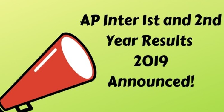 AP Inter 1st and 2nd Year Results 2019 Announced