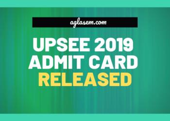 UPSEE 2019 Admit Card