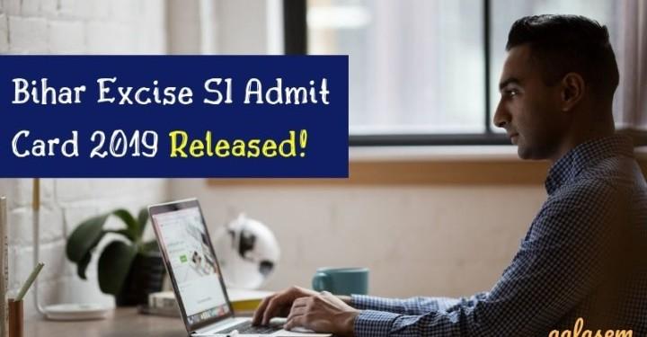 Bihar Excise SI Admit Card