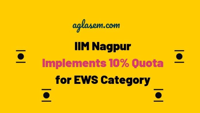 IIM Nagpur Implements 10% Quota for EWS Category