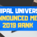 Manipal Universty Announced MET 2019 Rank