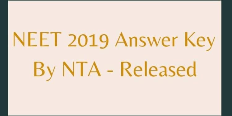 NEET 2019 Answer Key