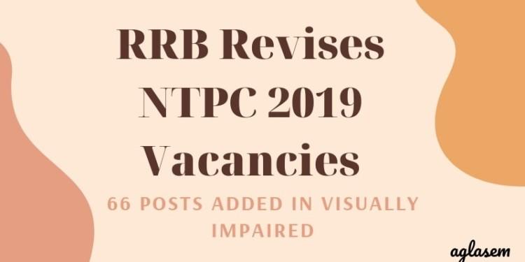 RRB Revises NTPC 2019 Vacancies Aglasem