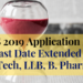 UPES 2019 Application Form - Last Date Extended