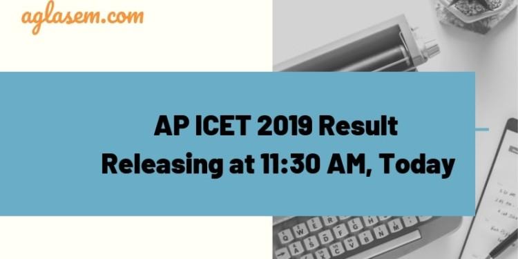 AP ICET 2019 Result Releasing Today