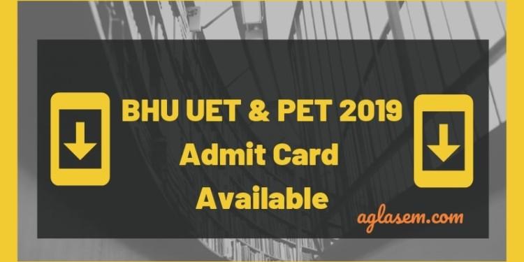 BHU UET & PET 2019 Admit Card