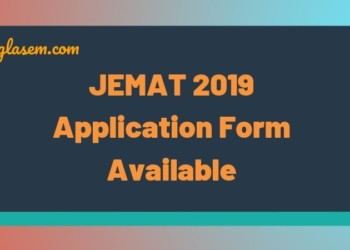 JEMAT 2019 Application Form Available