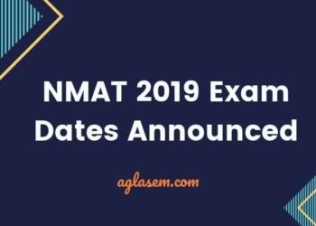 NMAT 2019 Exam Date