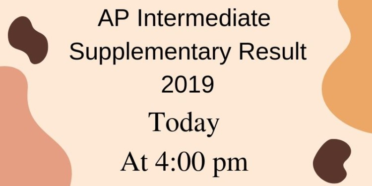 AP Intermediate Supplementary Result 2019 Today At 4_00 pm