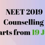 NEET 2019 Counselling