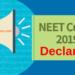 NEET Cutoff 2019