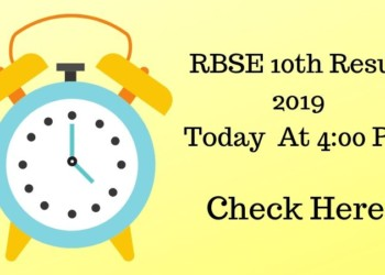 RBSE 10th Result 2019 Today At 4_00 Pm Check Here